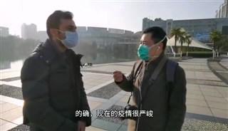 安徽师范大学巴基斯坦留学生沙希德制为武汉加油!为中国加油!