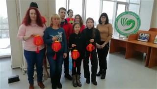 伊爾庫茨克國立大學孔子學院師生祝福中國